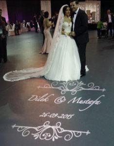 bruiloft trouwfeest licht projectie