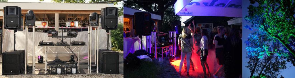 impressie Sound2Light outdoor dj feest licht en geluid