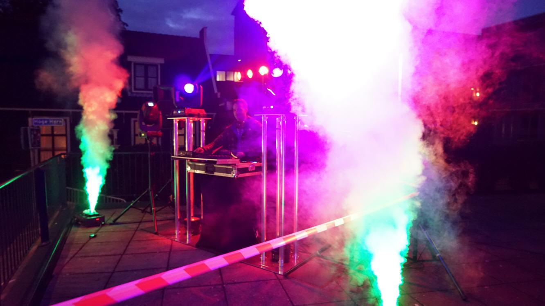 sport event DJ setup