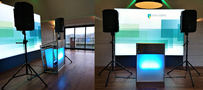 DJ Booth Huren DJ Meubel Sound2Light