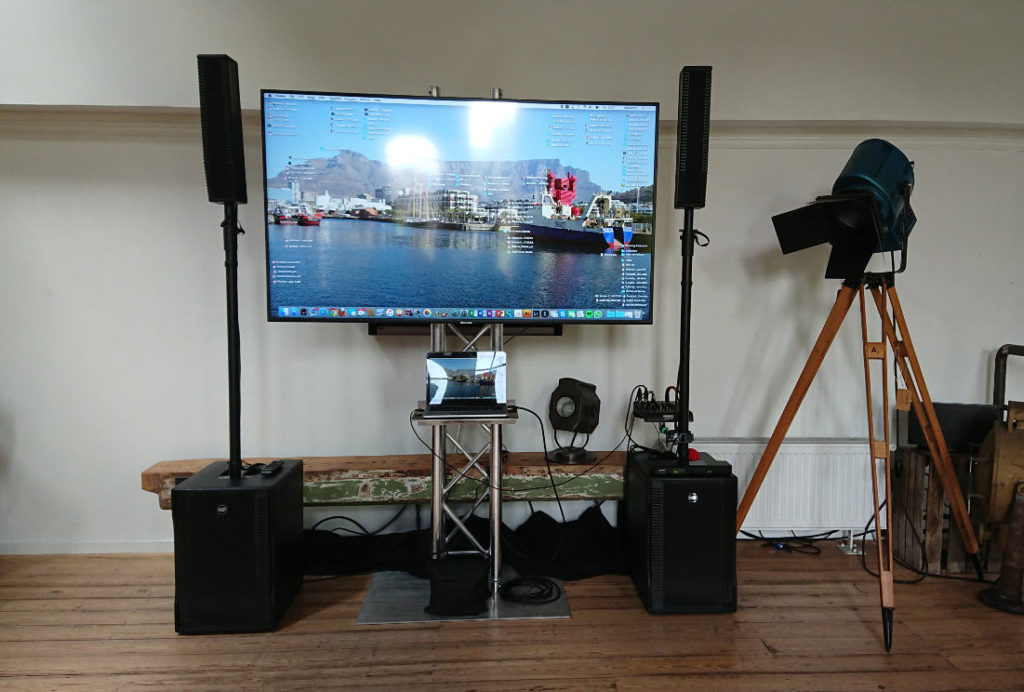TV huren beeldscherm 65 inch Sound2Light