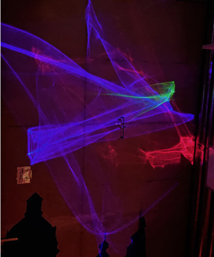 Psychadelic Lichteffect Laserprojectie Muur Sound2light Amsterdam